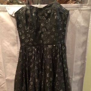Guess Black Polka Dot Sparkly Dress